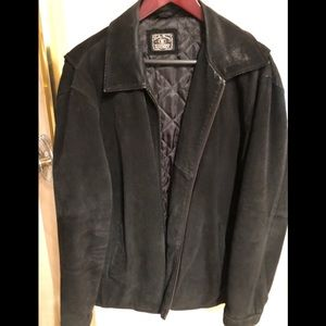 Lucky Brand men's Black suede jacket